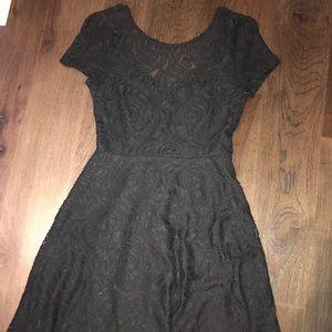 WORN ONCE Black lace minidress